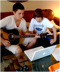 Greyson Chance with brother Tanner