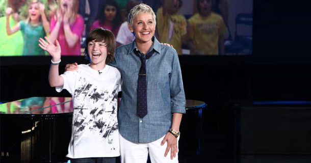 Ellen DeGeneres starts a record label to record Greyson Chance