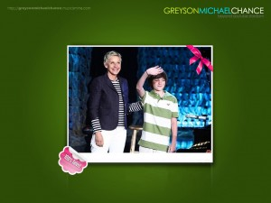 Greyson chance and Ellen wallpaper 3